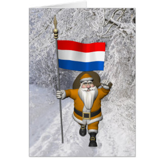 Sinterklaas With Dutch Flag Card