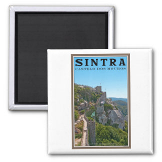 Sintra - Castle of the Moors Square Magnet