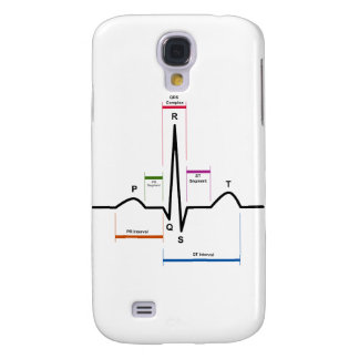Sinus Rhythm in an Electrocardiogram ECG Diagram Samsung Galaxy S4 Case