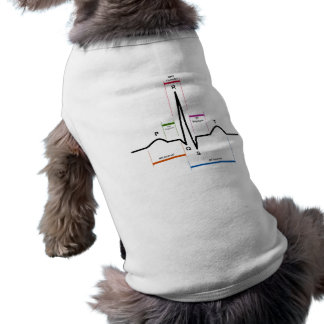 Sinus Rhythm in an Electrocardiogram ECG Diagram Sleeveless Dog Shirt
