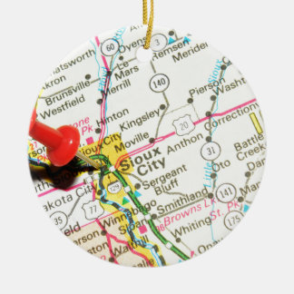 Sioux City, Iowa Christmas Ornament