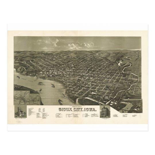 Sioux City, Iowa in 1888 Postcard