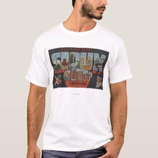 Sioux City, Iowa - Large Letter Scenes T-Shirt