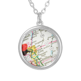 Sioux City, Iowa Silver Plated Necklace