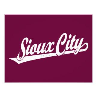 Sioux City script logo in white distressed 21.5 Cm X 28 Cm Flyer
