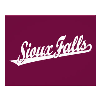 Sioux Falls script logo in white distressed Personalized Flyer