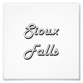 Sioux Falls South Dakota Classic Retro Design Photographic Print