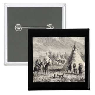 Sioux Village, circa 1876 15 Cm Square Badge
