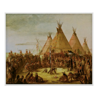 Sioux War Council by George Catlin Posters