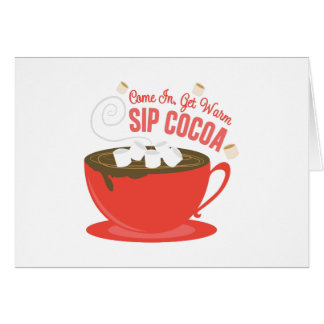 Sip Cocoa Greeting Card