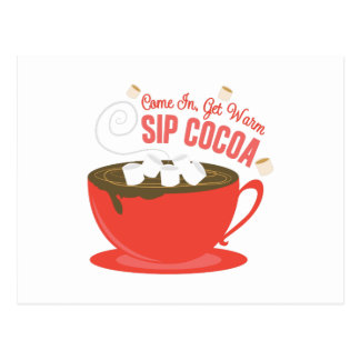 Sip Cocoa Postcard