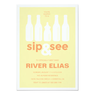 Sip & See Baby Shower Invitation