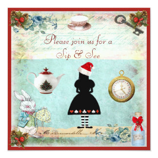 Sip & See Festive Wonderland Baby Shower Card