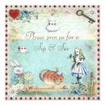 Sip & See Vintage Alice in Wonderland Baby Shower Personalised Invite