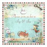 Sip & See Vintage Alice in Wonderland Baby Shower Invites