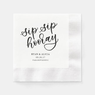 Sip Sip Hooray Personalized Napkin Paper Napkin