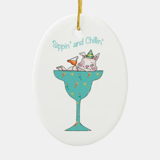 Sippin' and Chillin' Christmas Ornament