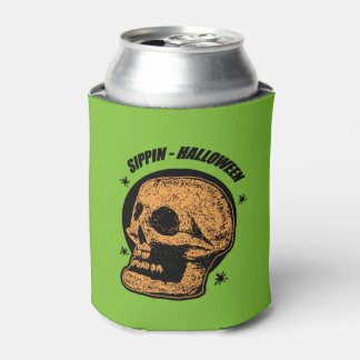 Sippin - Halloween Green Can Cooler