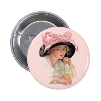 Sipping Soda 6 Cm Round Badge