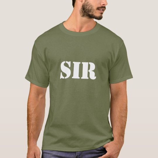 Sir Army Fatigue Stencil Font T-Shirt
