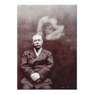 Sir Arthur Conan Doyle with Ghost by Ada Deane Personalized Announcement
