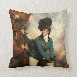 Sir Banastre Tarleton by Joshua Reynolds Throw Cushion