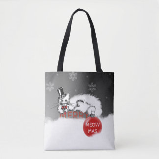 Sir Cat shows your Christmas wishes! Tote Bag