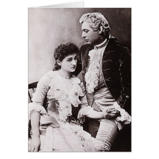 Sir Charles Wyndham and Miss Mary Moore Greeting Cards