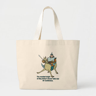 Sir Cumference Jumbo Tote Bag