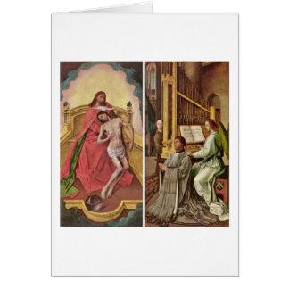 Sir Edward Boncle (Right Panel) By Hugo Van Goes Card