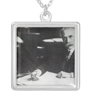 Sir Edward Elgar work on one  orchestral scores Silver Plated Necklace