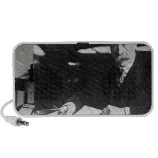 Sir Edward Elgar work on one orchestral scores Speaker