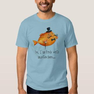 Sir Fishy Mustached Fish T Shirt