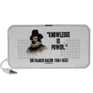 Sir Francis Bacon Knowledge Is Power Quote Laptop Speaker