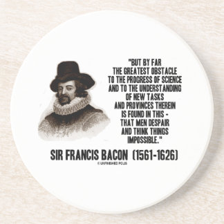 Sir Francis Bacon Obstacle Progress Of Science Beverage Coasters