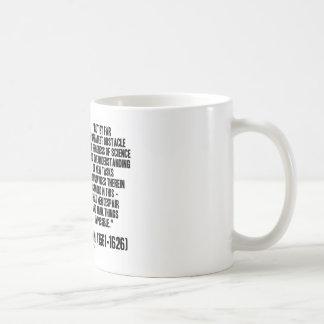 Sir Francis Bacon Obstacle Progress Of Science Coffee Mug