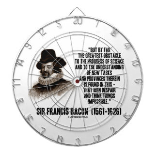 Sir Francis Bacon Obstacle Progress Of Science Dartboards