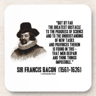 Sir Francis Bacon Obstacle Progress Of Science Drink Coasters