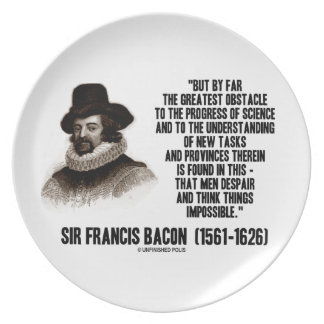 Sir Francis Bacon Obstacle Progress Of Science Dinner Plate