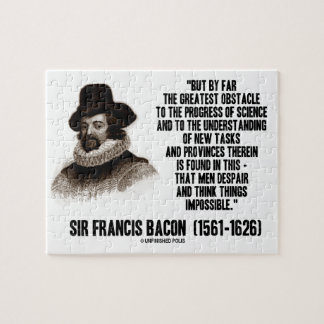 Sir Francis Bacon Obstacle Progress Of Science Puzzle