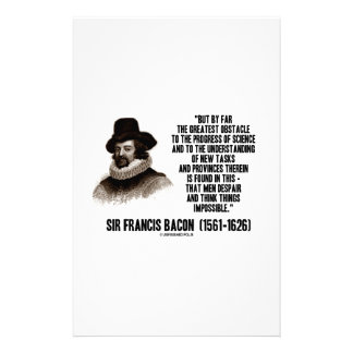 Sir Francis Bacon Obstacle Progress Of Science Stationery Design