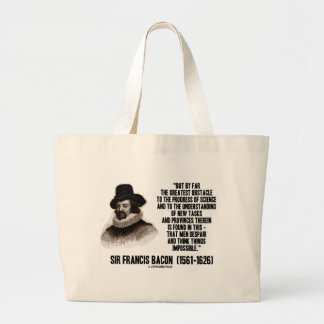 Sir Francis Bacon Obstacle Progress Of Science Jumbo Tote Bag