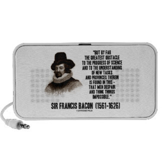 Sir Francis Bacon Obstacle Progress Of Science Travel Speaker
