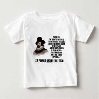 Sir Francis Bacon Obstacle Progress Of Science Tshirts
