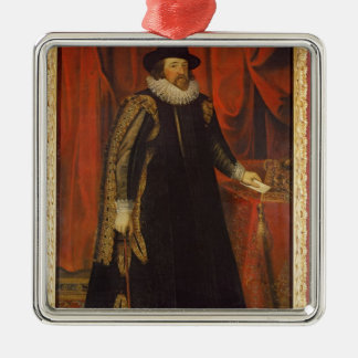 Sir Francis Bacon  Viscount of St. Albans Silver-Colored Square Decoration
