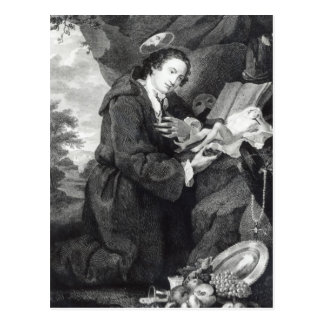 Sir Francis Dashwood  worshipping Venus Postcard