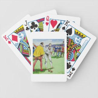 Sir Francis Drake 1540 3-96 playing bowls from Bicycle Card Decks