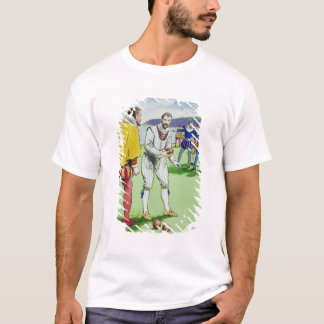 Sir Francis Drake (1540/3-96) playing bowls, from T-Shirt
