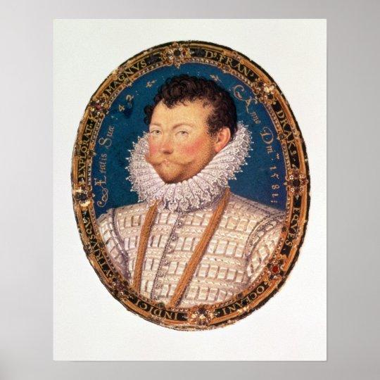 Sir Francis Drake, 1581 Poster