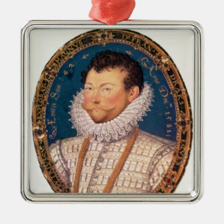 Sir Francis Drake, 1581 Silver-Colored Square Decoration